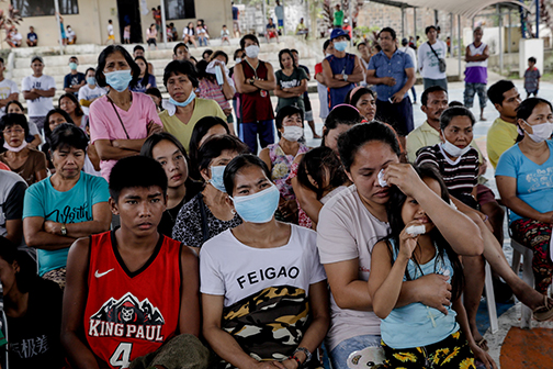 Priest appels for more shelters for evacuees of volcanic eruption in Philippines