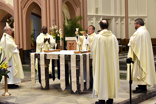 'Renewal' is theme for priestly promises and blessing of oils, chrism