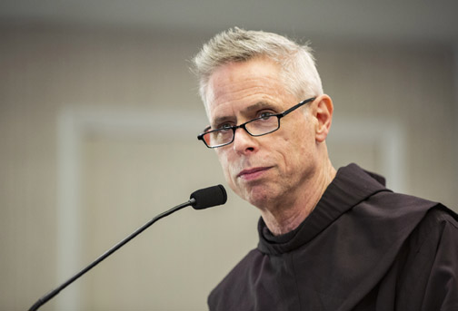 Bike accident sidelines U.S. priest who is Franciscan minister general