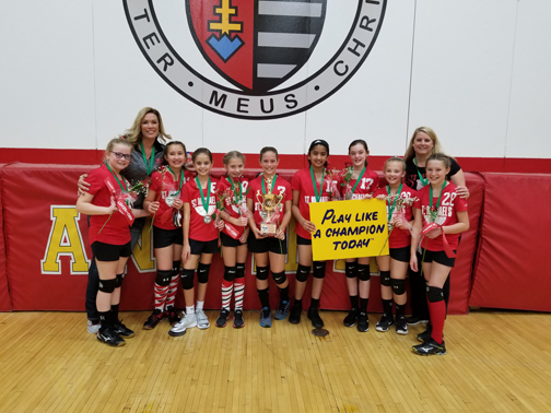 5th grade girls CYO volleyball champs