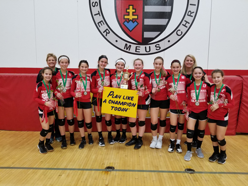 8th grade CYO girls volleyball champs