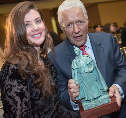 Trebek cites 'power of prayer' in accepting Catholic university award